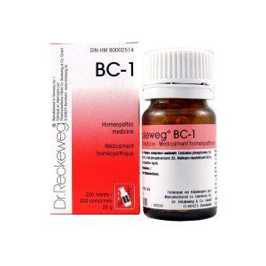 Dr. Reckeweg BC-1   AL-HAKIM Homeopathic Center Ltd. 670 Highway 7 E, Unit #30. Richmond Hill L4B 3P2 Tel. +1(647) 673-4242