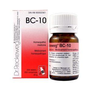 Dr. Reckeweg BC-10   AL-HAKIM Homeopathic Center Ltd. 670 Highway 7 E, Unit #30. Richmond Hill L4B 3P2 Tel. +1(647) 673-4242