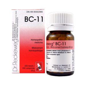 Dr. Reckeweg BC-11   AL-HAKIM Homeopathic Center Ltd. 670 Highway 7 E, Unit #30. Richmond Hill L4B 3P2 Tel. +1(647) 673-4242