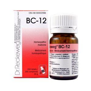 Dr. Reckeweg BC-12   AL-HAKIM Homeopathic Center Ltd. 670 Highway 7 E, Unit #30. Richmond Hill L4B 3P2 Tel. +1(647) 673-4242