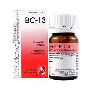 Dr. Reckeweg BC-13   AL-HAKIM Homeopathic Center Ltd. 670 Highway 7 E, Unit #30. Richmond Hill L4B 3P2 Tel. +1(647) 673-4242