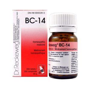 Dr. Reckeweg BC-14   AL-HAKIM Homeopathic Center Ltd. 670 Highway 7 E, Unit #30. Richmond Hill L4B 3P2 Tel. +1(647) 673-4242