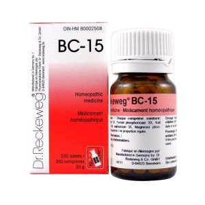 Dr. Reckeweg BC-15   AL-HAKIM Homeopathic Center Ltd. 670 Highway 7 E, Unit #30. Richmond Hill L4B 3P2 Tel. +1(647) 673-4242