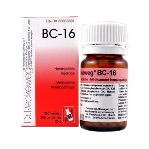 Dr. Reckeweg BC-16   AL-HAKIM Homeopathic Center Ltd. 670 Highway 7 E, Unit #30. Richmond Hill L4B 3P2 Tel. +1(647) 673-4242