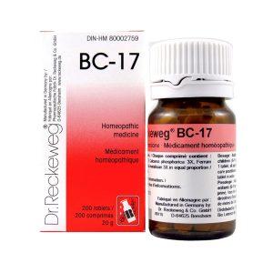 Dr. Reckeweg BC-17   AL-HAKIM Homeopathic Center Ltd. 670 Highway 7 E, Unit #30. Richmond Hill L4B 3P2 Tel. +1(647) 673-4242