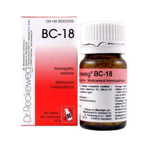 Dr. Reckeweg BC-18   AL-HAKIM Homeopathic Center Ltd. 670 Highway 7 E, Unit #30. Richmond Hill L4B 3P2 Tel. +1(647) 673-4242