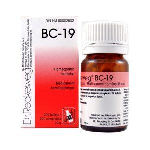 Dr. Reckeweg BC-19   AL-HAKIM Homeopathic Center Ltd. 670 Highway 7 E, Unit #30. Richmond Hill L4B 3P2 Tel. +1(647) 673-4242