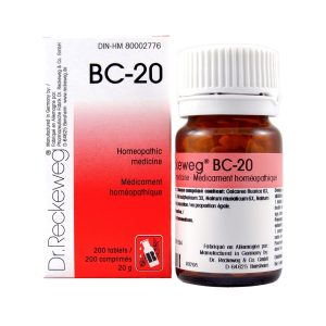 Dr. Reckeweg BC-20   AL-HAKIM Homeopathic Center Ltd. 670 Highway 7 E, Unit #30. Richmond Hill L4B 3P2 Tel. +1(647) 673-4242
