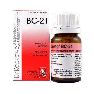 Dr. Reckeweg BC-21   AL-HAKIM Homeopathic Center Ltd. 670 Highway 7 E, Unit #30. Richmond Hill L4B 3P2 Tel. +1(647) 673-4242