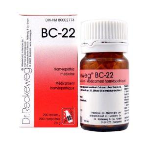 Dr. Reckeweg BC-22   AL-HAKIM Homeopathic Center Ltd. 670 Highway 7 E, Unit #30. Richmond Hill L4B 3P2 Tel. +1(647) 673-4242
