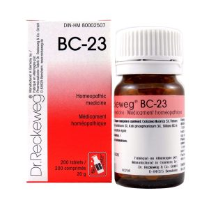 Dr. Reckeweg BC-23   AL-HAKIM Homeopathic Center Ltd. 670 Highway 7 E, Unit #30. Richmond Hill L4B 3P2 Tel. +1(647) 673-4242